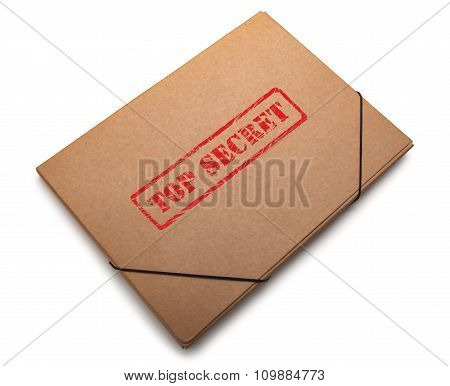 Folder containing top secret info