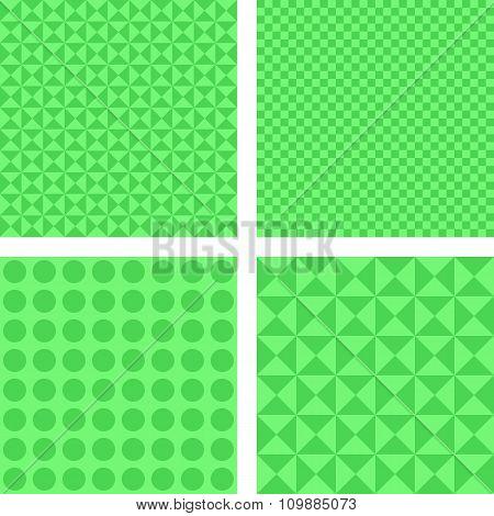 Simple green pattern set