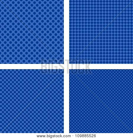 Simple blue striped pattern background set