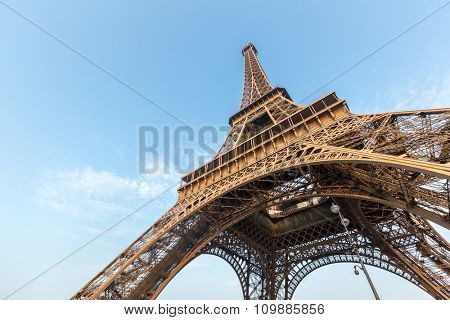 Eiffel Tower with blue sky Paris France