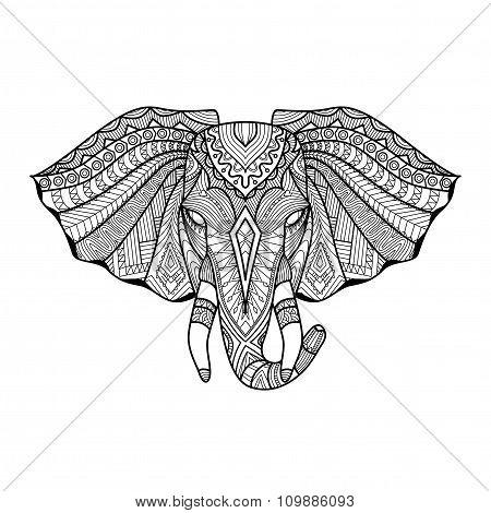 Ethnic Elephant Head