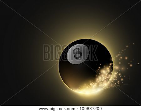 sparkling vector snooker ball