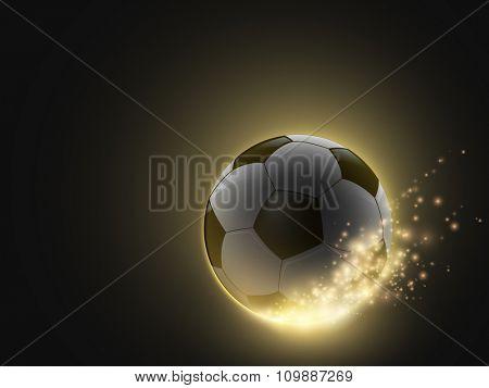sparkling vector soccer ball