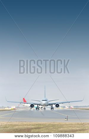 Passenger Jets On Runway