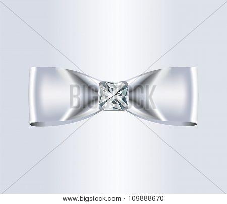 Elegant White Silk Bow