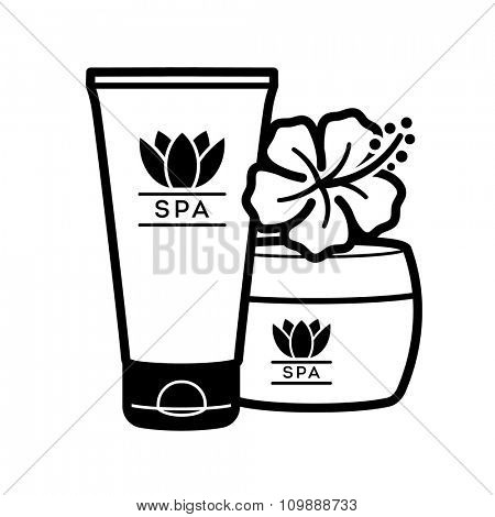 Spa and Wellness logo. Care cosmetic