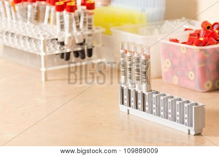 Testing of blood samples for diseases and hormones
