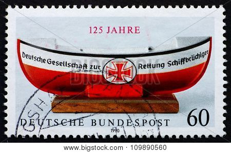 Postage Stamp Germany 1990 German Life Boat Institution