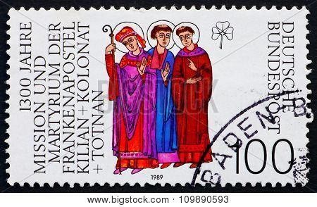 Postage Stamp Germany 1989 Saints Kilian, Colman And Totnan