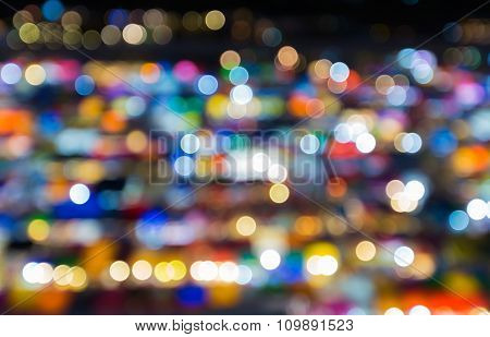 Abstract blurred bokeh lights background city lights night view