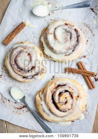 Homemade Cinnamon Rolls With Cream Cheese Glaze