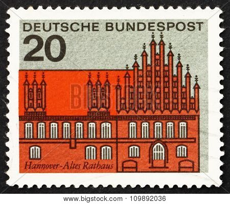 Postage Stamp Germany 1964 Old Town Hall, Hanover