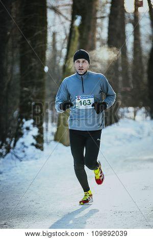 young men athletes run