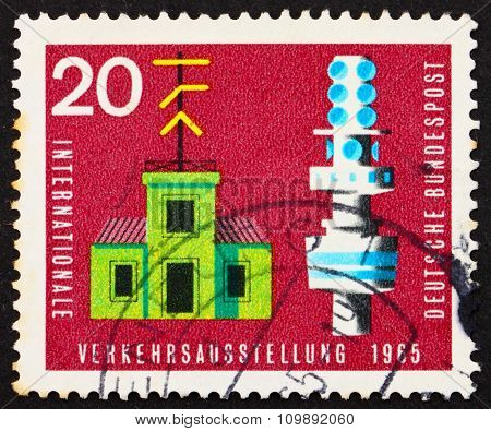 Postage Stamp Germany 1965 Semaphore Telegraph And Telecommunication Tower