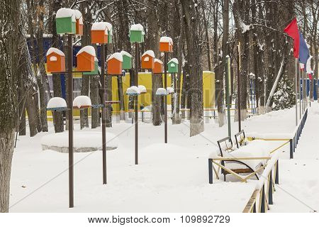 Birdhouses in the Park