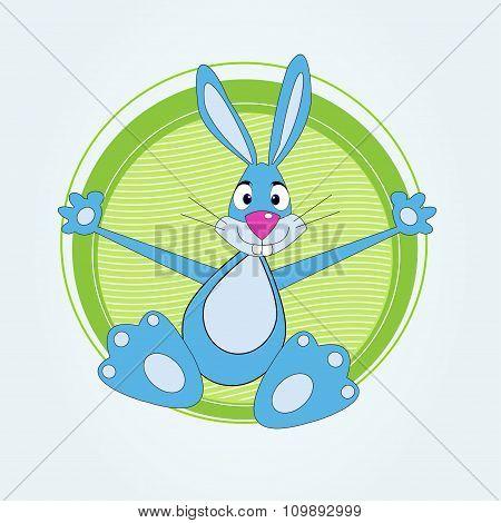 Cute cartoon bunny rabbit vector illustration
