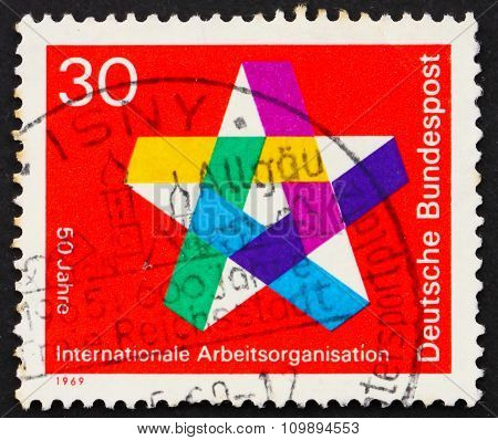 Postage Stamp Germany 1969 Five-pointed Star
