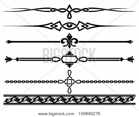 Decorative elements. Vector illustration.