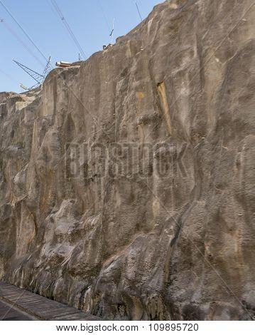 Itaipu Dam Detail From Brazilian Border