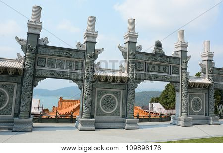 Front Gate Of A Chinese Buddhist Temple