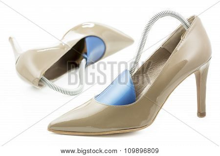 Pair of high heels with shoe formers
