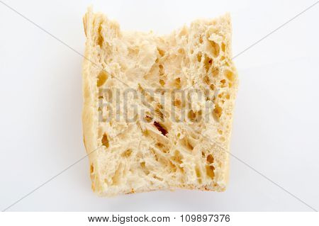 White Bread Isolated On A White Backgrond