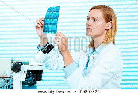 Silicon wafers production, photolithography
