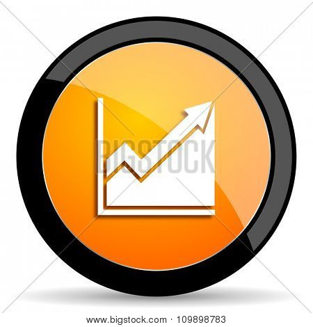 histogram orange icon