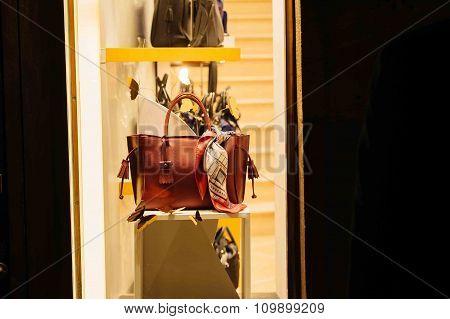 Longchamp Women Bag In Windows Store  Shopping