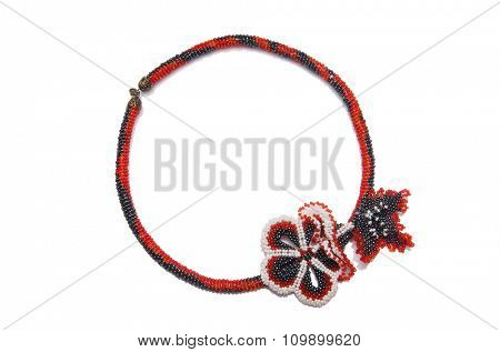 Nice necklace isolated on the white