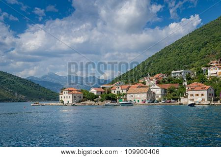Lepetane old village in the Kotor bay