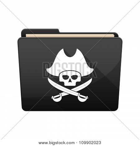 Long Shadow  Binder With  A Pirate Skull