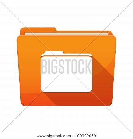 Long Shadow  Binder With  A Folder