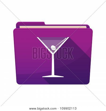 Long Shadow  Binder With  A Cocktail Glass