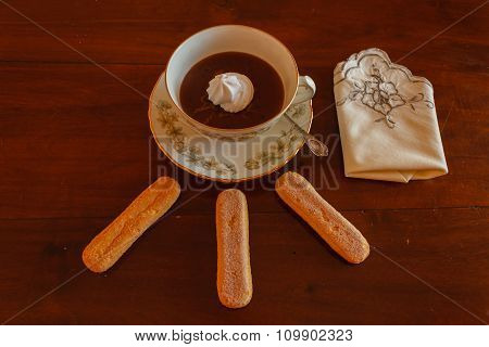 The Hot Chocolate With Lady Fingers