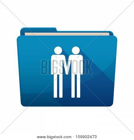 Long Shadow  Binder With  A Gay Couple Pictogram