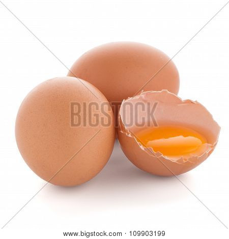 Raw Eggs Isolated On White