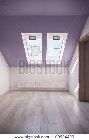 Violet Slanted Ceiling