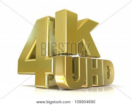 Ultra HD (high definition) resolution technology. 4K UHD
