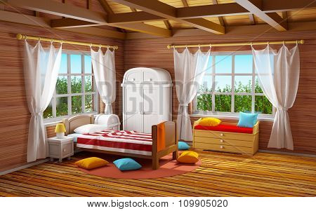 Fantasy Wooden Bedroom