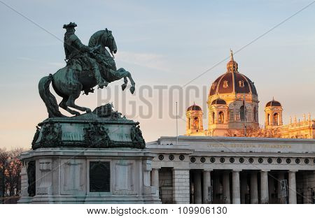 Vienna / Wien, Austria - Horse And Rider Memorial.