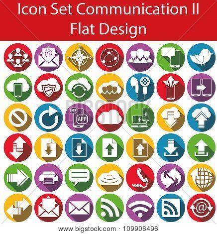 Flat Design Icon Set Communication Ii