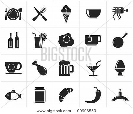 Black Food, drink and restaurant icons