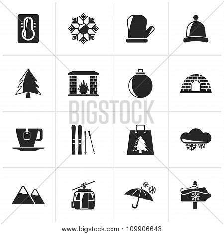 Black Winter, Sport and relax icons