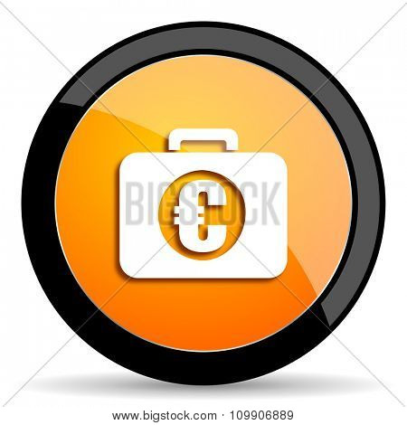 financial orange icon