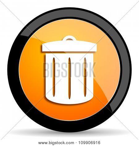 recycle orange icon