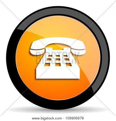 phone orange icon
