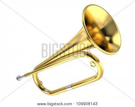 Bugle isolated on white