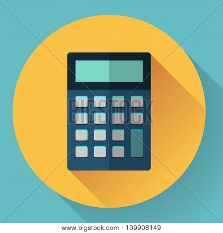 calculator icon with long shadow