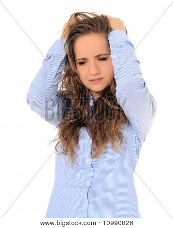 Frustrated young girl